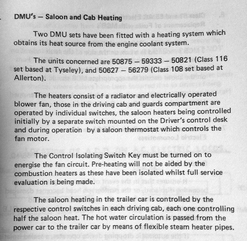 Saloon and cab heating